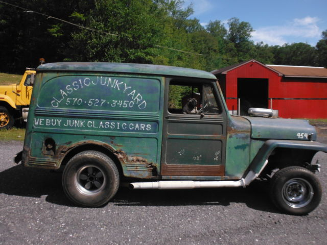 57 WILLYS DELIVERY STRAIGHT AXLE GASSER 2WD PANEL TRUCK RAT