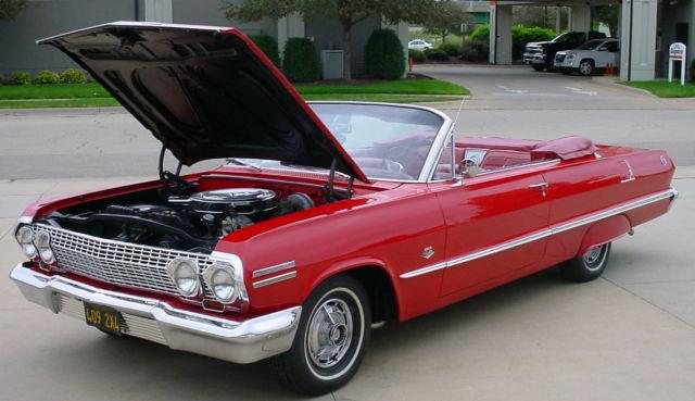 2008 Impala Ss For Sale >> 63 Chevrolet Impala SS 409 Convertible Rare 425 HP 409 CID Barrett Jackson Car - Classic ...