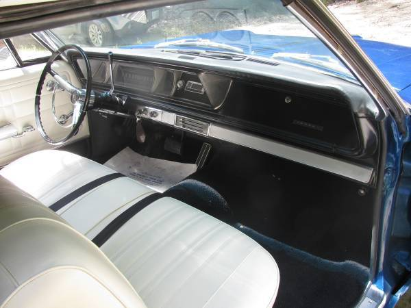 66 impala convertible metallic blue white interior w matching top 327 automatic classic. Black Bedroom Furniture Sets. Home Design Ideas