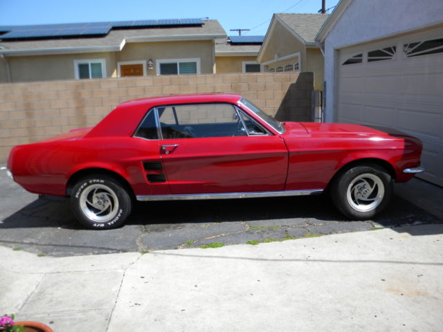 67 ford mustang coupe 2 doors classic ford mustang 1967 for sale. Black Bedroom Furniture Sets. Home Design Ideas