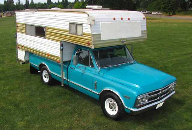 67 gmc camper cruiser 3 4 ton 43k miles v6 big block a c. Black Bedroom Furniture Sets. Home Design Ideas