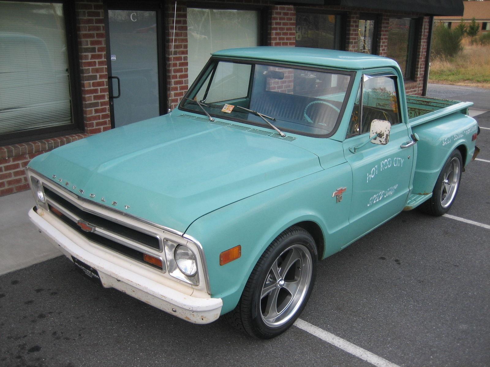 68 Chevy Patina Slammed Touring Rat Hot Rod Shop Truck Pickup 86k Original Miles