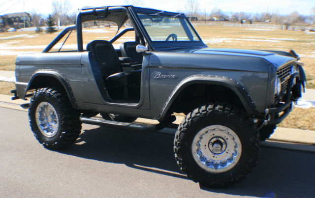 68 Ford Bronco, early ford bronco, gray, 302,NEW 35x12.5x18, classic ...