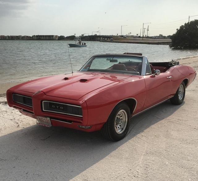 1967 Gto For Sale >> 68 pontiac GTO red convertible matching numbers survivor - Classic Pontiac GTO 1968 for sale