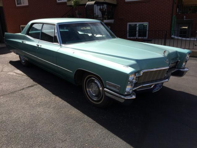 68 sedan deville 4 door post green green 2 owner smooth. Black Bedroom Furniture Sets. Home Design Ideas