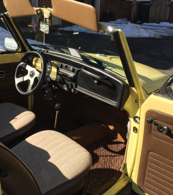 68 Vw Bug Convertible Yukon Yellow Clean Ca Bug Turns