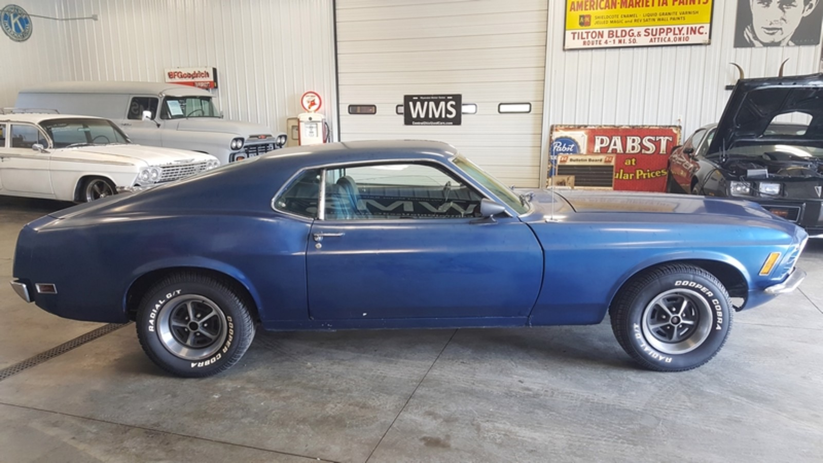 70 Blue Fastback Stang Mach 1 Auto 302 V8 Power Classic