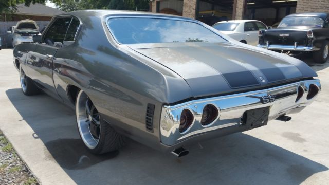 72 Chevelle ss tribute very nicely stealthy look (fast and ...