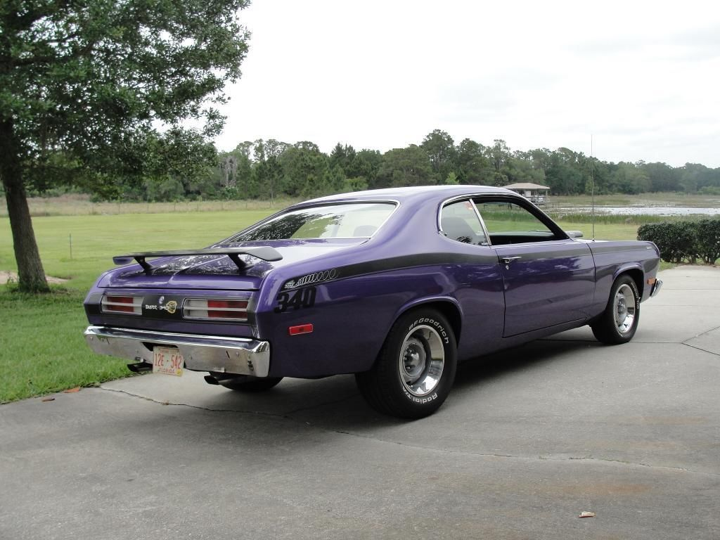 72 plumcrazy 340 duster 4 speed classic plymouth duster 1972 for sale. Black Bedroom Furniture Sets. Home Design Ideas