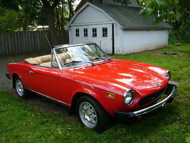78 Fiat 124 Spider 2 Door Convertible Antique Collectible