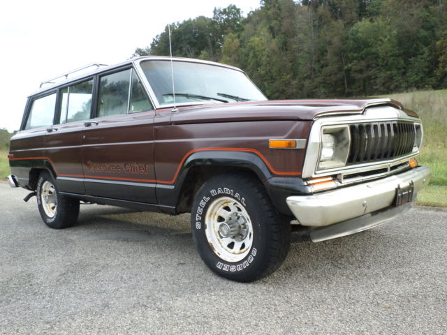 Jeep Wagoneer For Sale >> 81 AMC JEEP GRAND CHEROKEE CHIEF S WAGONEER 4X4 PROJECT PARTS ROCK CRAWLER AMX - Classic Jeep ...