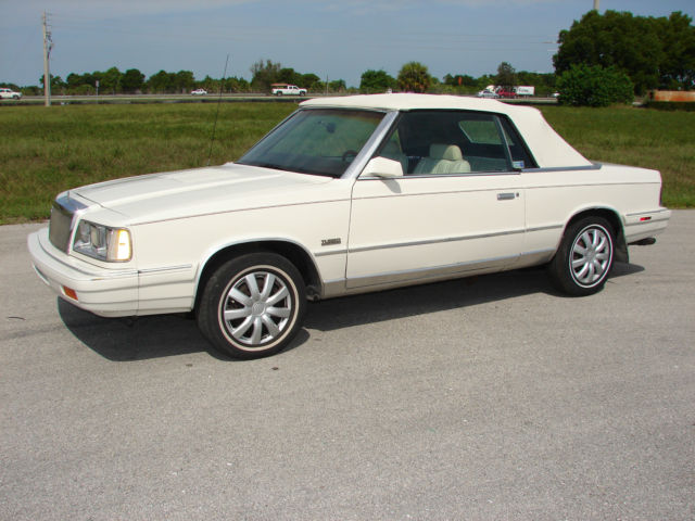 Impound Cars For Sale >> 86 CRYSLER LE BARON 2.2 TURBO CONVERTIBLE LOW MILES K CAR ...