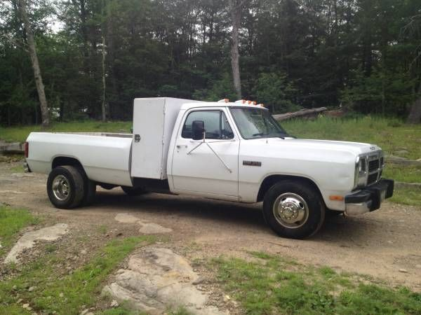 91 dodge diesel dually first gen cummins low miles classic dodge ram 3500 1900 for sale. Black Bedroom Furniture Sets. Home Design Ideas
