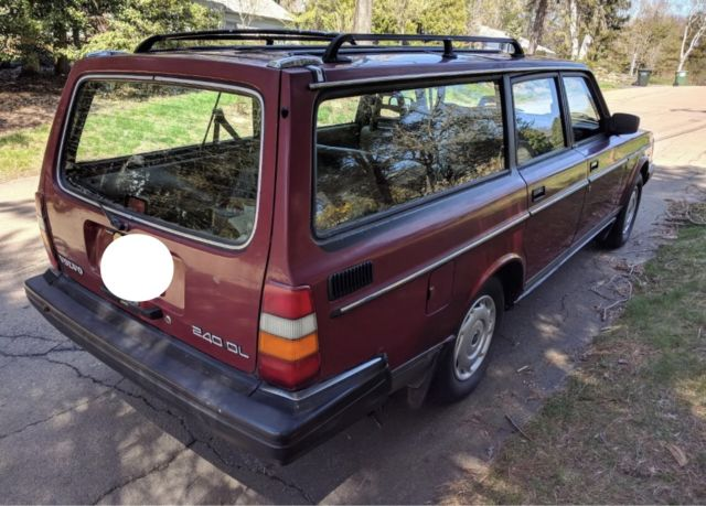 99 No Reserve One Owner 1986 Volvo 240 5 Speed Wagon Berry