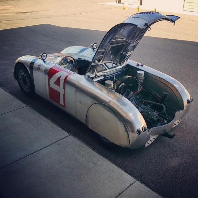 Aluminum Body Handbuilt Porsche Vw Frankfurt Flyer Vintage