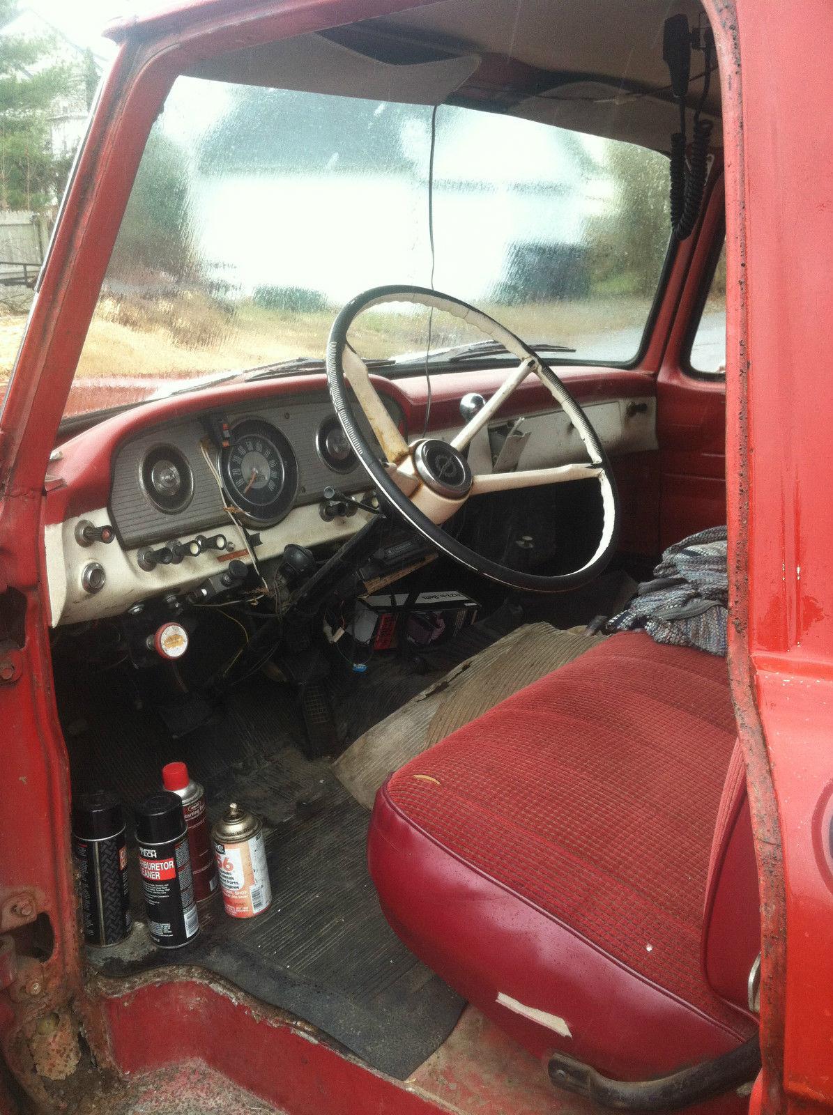 Antique 1964 Ford F 350 Dump Truck Vintage Retro Badass Clear Title 1955 F100 Steering Wheel Black Red