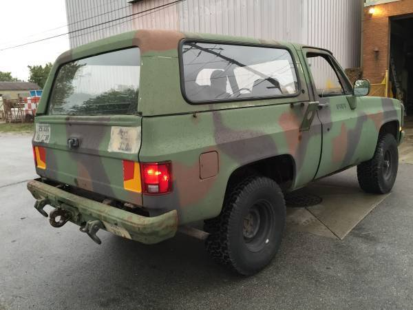 blazer m1009 cucv 4x4 truck   classic chevrolet blazer 1986 for sale