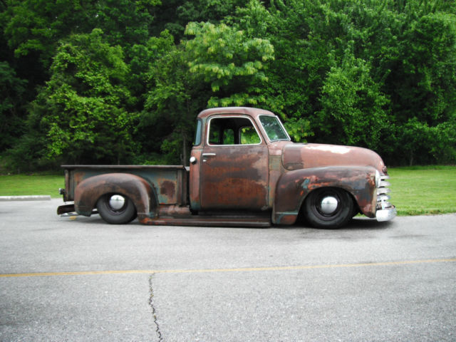 Bagged 1949 chevrolet shop truck 3100 pickup air ride 5 for 1949 chevy 5 window pickup for sale