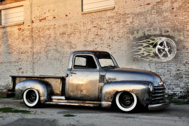 Bare Metal Slammed Hot Rat Street Rod Patina Shop Truck