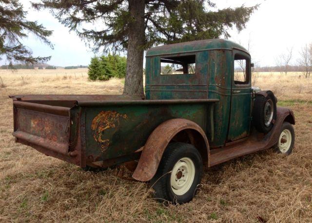 Barn Find 1936 Chevrolet 1 2 Ton Pickup Truck Patina Hot
