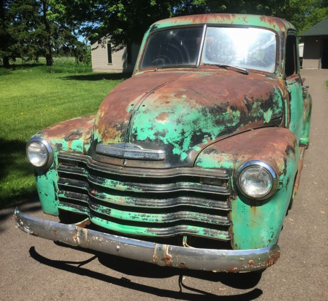 Barn Find Chevrolet Ton Pickup Truck Patina Rat Rod Gmc on Used Chevy 6 Cylinder Engine