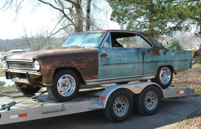 Barnfind Original 1966 Chevy Ii Nova Ss 2 Door Hardtop