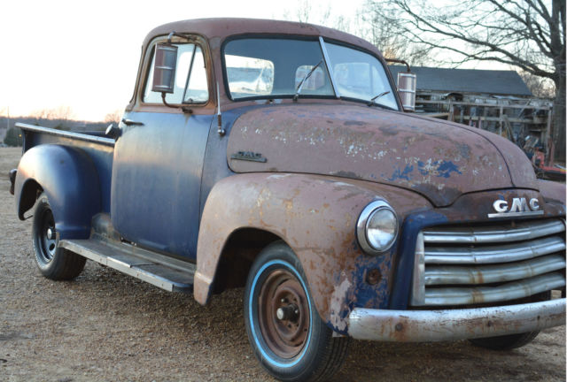 Barnfound 1953 gmc swb 3100 5 window pickup truck project for 1953 5 window chevy truck for sale