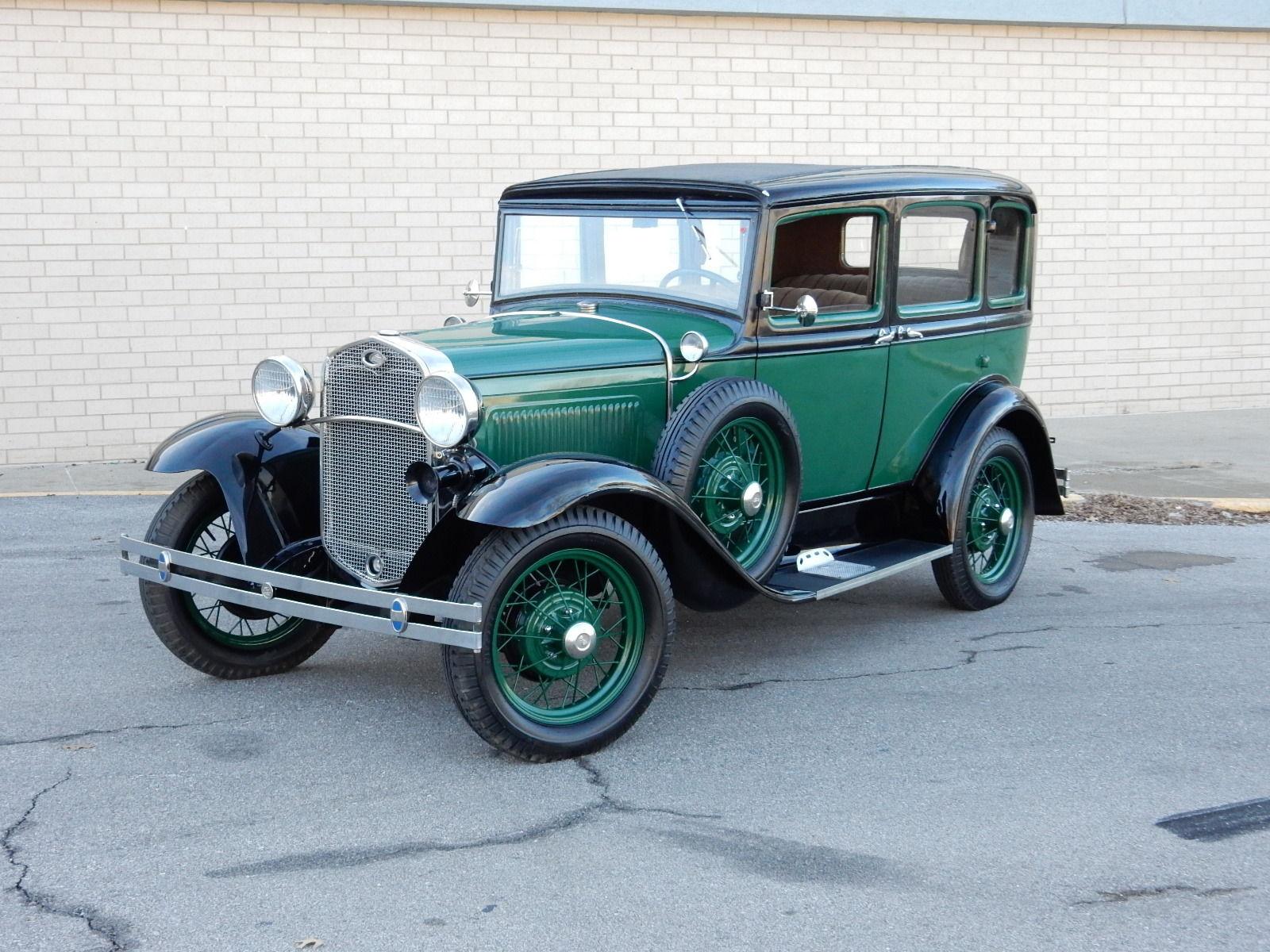 beautiful 1931 ford model a slant windshied 6 window sedan very rare classic ford model a. Black Bedroom Furniture Sets. Home Design Ideas