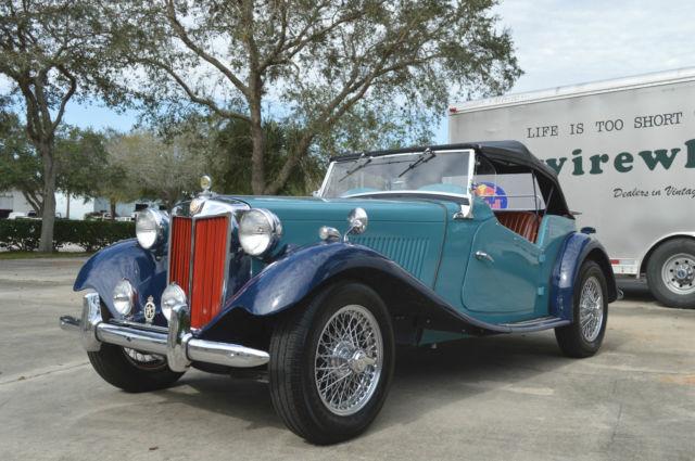 Beautiful 1951 Mg Td Clipper Blue With Dark Blue Fenders