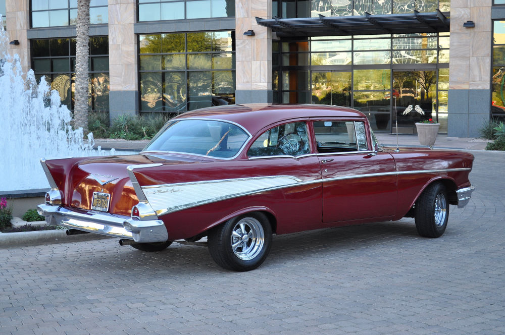 Beautiful and solid 1957 chevrolet 2 door 210 sedan with for 1957 chevy 2 door sedan