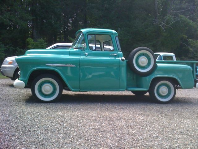 Beautiful big window radio four on the floor chevy 3100 for 1955 chevy big window for sale
