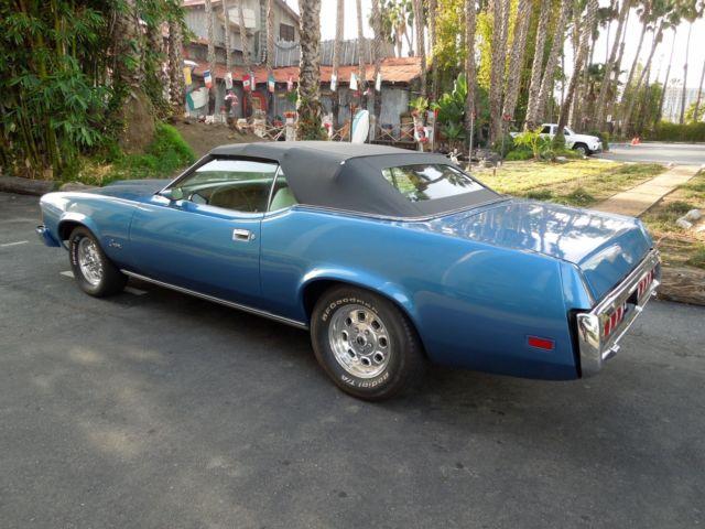 Beautiful Blue 1973 Mercury Cougar Xr7 Convertible Classic