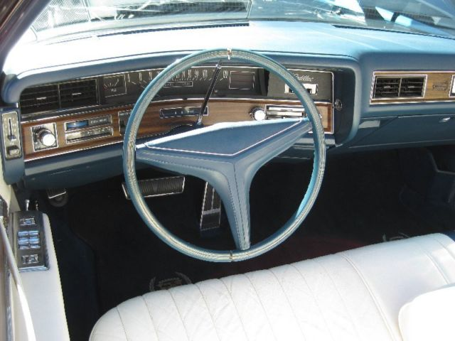 Beautiful convertible with white interior and st moritz blue firemist exterior classic for 1972 cadillac eldorado interior
