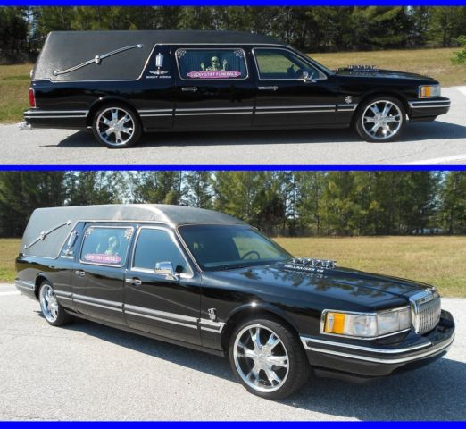 BEAUTIFUL CUSTOM LINCOLN HEARSE TOWN CAR FUNERAL HOT ROD