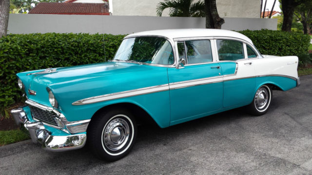 Beautiful original 1956 chevrolet bel air 4 door sedan for 1956 chevy 4 door