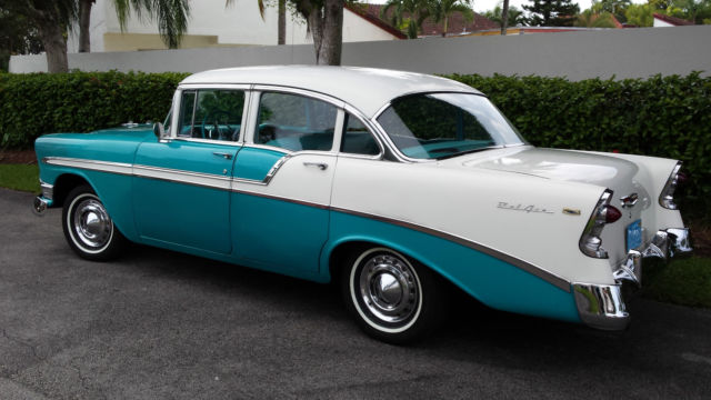 Beautiful original 1956 chevrolet bel air 4 door sedan for 1956 chevy 4 door for sale