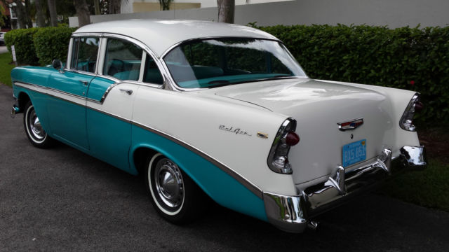 Beautiful original 1956 chevrolet bel air 4 door sedan for 1956 chevy belair 4 door for sale
