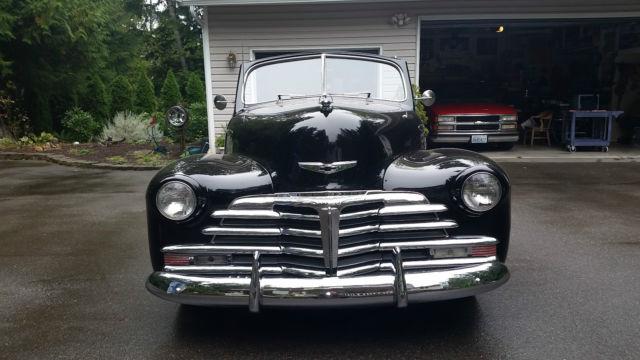 Black 1948 Chevrolet Fleetmaster 2 Door Convertible Custom