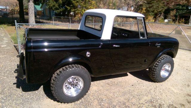 Black 1965 International Scout 80 Turbo Hardtop 4x4 800 ...