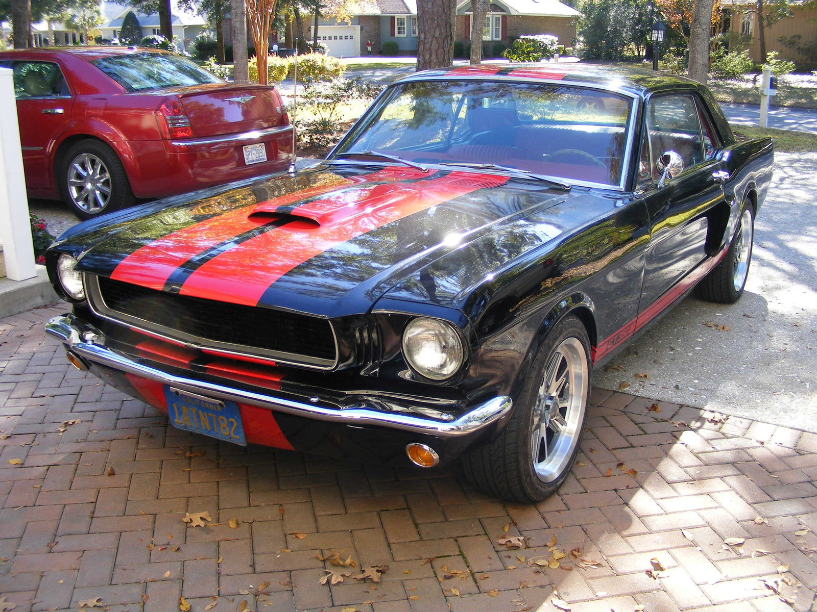 Black Mustang Coupe C Code V Auto Gt Tribute No Reserve on 1966 Mustang Vin Location
