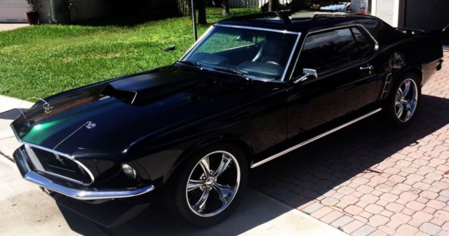 Black 1969 Classic Custom Ford Mustang Coupe Clean