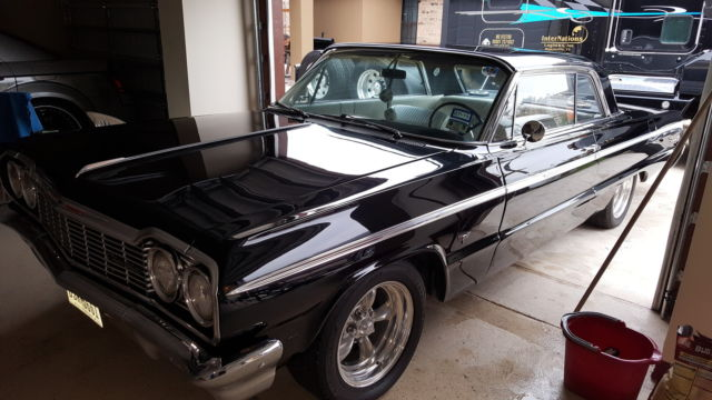 Black 64 Impala Ss White Interior Classic Chevrolet Impala 1964 For Sale