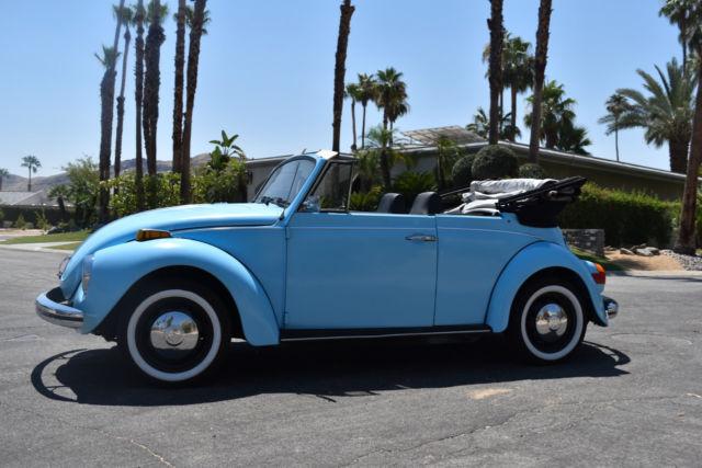 blue  volkswagen beetle convertible classic restored classic volkswagen beetle classic