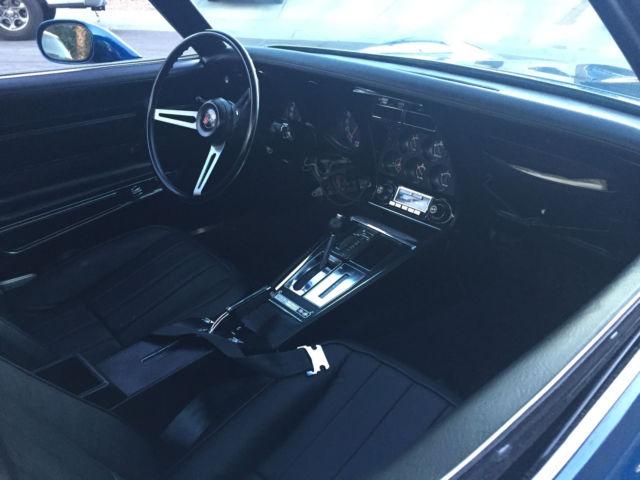 Blue 1972 Corvette Stingray T-Top - Classic Chevrolet Corvette 1972 for sale