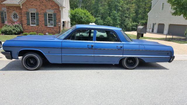 Blue Black 1964 4 Door Hard Top Sedan Impala Fully Restored Classic Chevrolet Impala 1964 For Sale