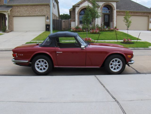 british sports car classic triumph tr 6 1972 for sale. Black Bedroom Furniture Sets. Home Design Ideas