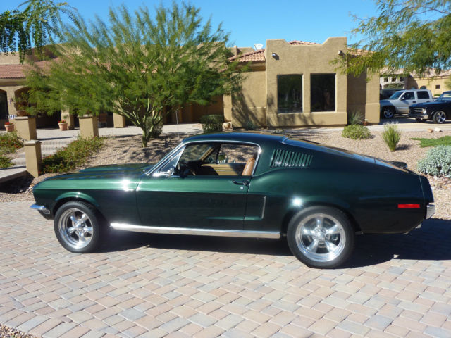 48158 Bullet Green 68 Mustang Fastback on classic mustang roof restoration
