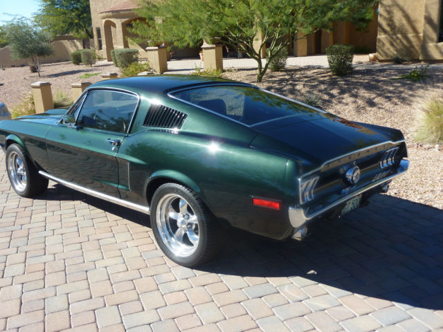 bullet green 68 mustang fastback classic ford mustang 1968 for sale. Black Bedroom Furniture Sets. Home Design Ideas