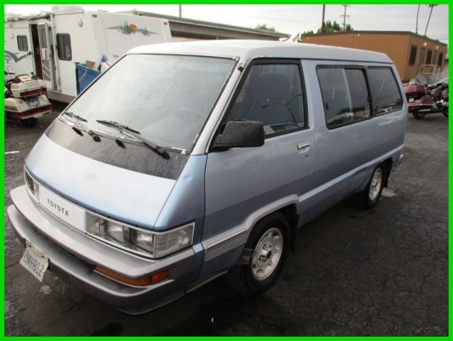 C Toyota Van Le Used L I V Automatic No Reserve on 1989 Toyota Van Engine