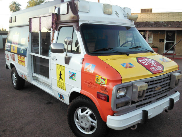 C20 Van Ice Cream Truck Concession Van Classic Chevrolet